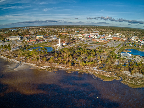Port St Joe from the air