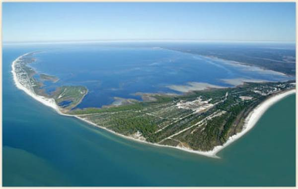Aerial of Cape San Blas